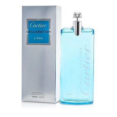 Declaration L'Eau EDT Eau De Toilette Spray 100ml by Cartier Mens Cologne