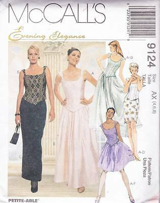 ~UNCUT McCall's Sewing Pattern 9124 Elegance Top & Skirt  Size 4-8~