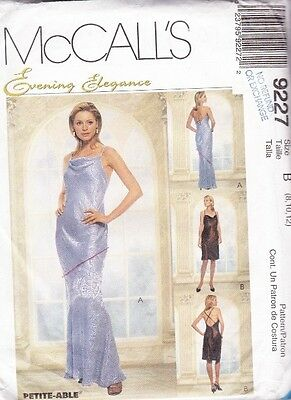 ~UNCUT Evening Elegance Bias Dress Gown McCall's 9227 Sewing Pattern 14-18~