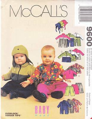 ~UNCUT McCall's Sewing Pattern 9600 Childs Jumpsuit, Tops,Pants & Hat All Sizes~