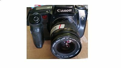 Canon EOS 5 35mm Film SLR Camera Body With Canon 28-80mm Zoom Lens