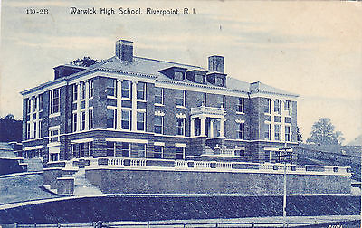 Warwick High School, Riverpoint, RI. Blanchard Young & Co 1906-1924 Cancel 1914