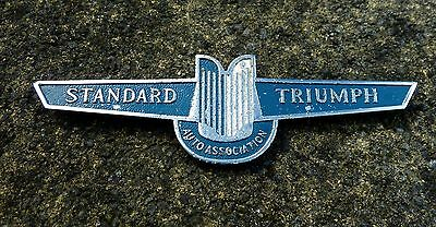 Vintage Standard Triumph Auto Association Grille Badge - J Fray Ltd