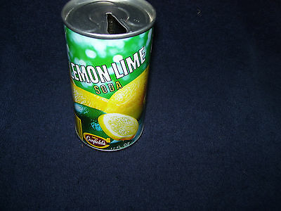 Canfield's Lemon Lime Soda Can~A J Canfield Co~Chicago Illinois~Straight Steel