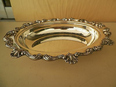 Ornate Silverplated Oval Dish-Heavy