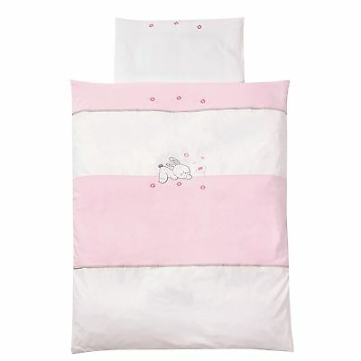 Easy-Baby Bettwäsche 80x80 / 35x40 cm  Rabbit rose 415-38