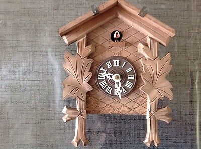 Antique Black Forest Cuckoo Clock For Restoration Or Spare Parts 23x18x10cm.