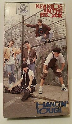 NEW KIDS ON THE BLOCK Lot HANGIN' TOUGH  & STEP BY STEP (VHS, 1989, 1990) NKOTB