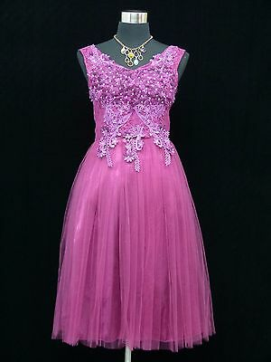 Cherlone Purple Prom Ball Evening Bridesmaid Wedding Formal Gown Dress Size 12