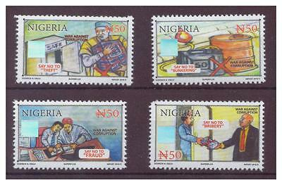 Nigeria - Anti Corruption 2016, Set of 4 Values, Mint (Holograms)