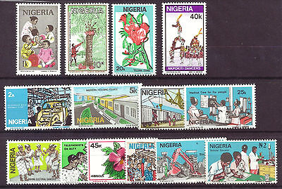Nigeria - Modern Life Definitives, 1986, 14 values to N2 NHM