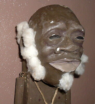 Rare Black Americana Folk Art Clay Head Doll Signed By Artist