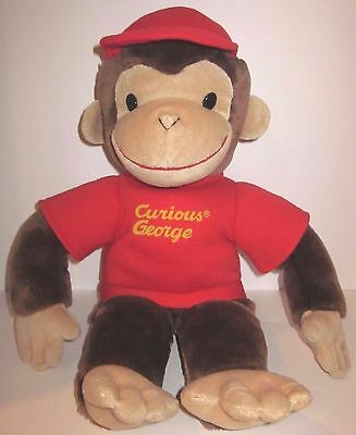 "Curious George - 16"" Stuffed Plush-  Gund - W Red Hat"