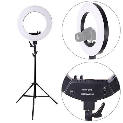 """ROCOMOCO 18""""/48cm Dimmable LED SMD Ring Light Kit for Video,Portrait Photography"""