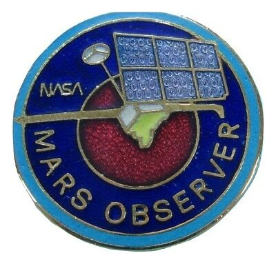 NASA official PIN '92 vtg MARS OBSERVER space exploration probe enamel