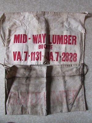 Vintage Beaver Lumber Carpenters Apron Out of Business Lumber Yard Midway Bronte