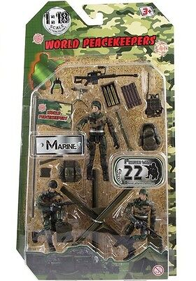World Peacekeepers - 3 figures  with accessories - Marine - Brand New