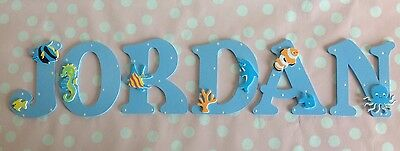 Personalised Wooden 9cm Any Letter Alphabet Wall Door Kids Boy Girl Name Plaque