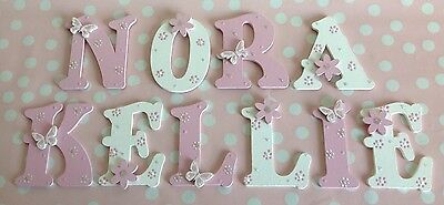 Personalised Children 9cm Letter Alphabet Wall Door Any Name/Colour Pink Blue...