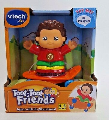 Vtech Toot Toot Friends Dylan and Skateboard music light kids toys his figure go