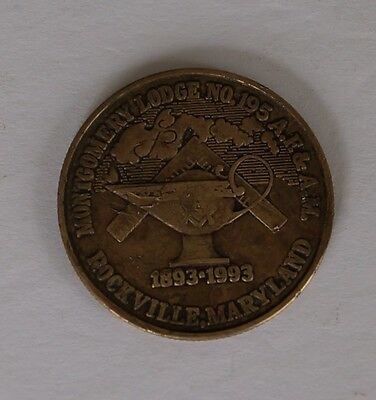 1993 Rockville Montgomery Lodge 195 Anniversary Let There Be Light Token