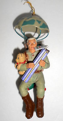Enesco G.I. JOE LOVE CHRISTMAS with Parachute Soldier 1997 Ornament Box 278149