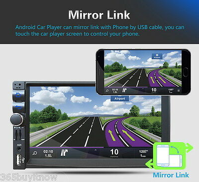 7'' Android5.1 Dualcore Autoradio Bluetooth 2 DIN GPS Stereo Player 3G/FM/AM/USB