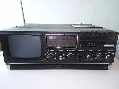 Vintage Binatone Visioncorder Portable All In One Tv, Radio Cassette Player