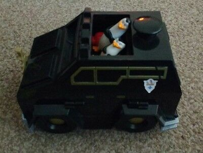 Penguins of Madagascar Toy Car with Side Shooters & Barrel Talks & Makes Noise