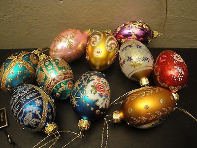 Joan Rivers 2010 Ornament Embossed Eggs Holiday Christmas Easter lot of 10
