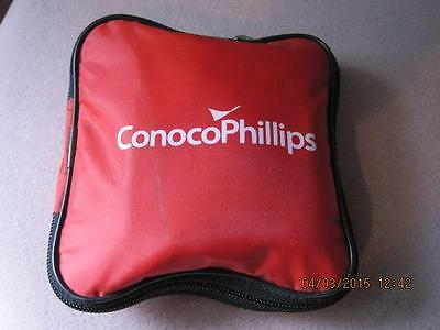 CONOCO PHILLIPS First Aid Kit Unused with Contents Red Vinyl Pouch Gas & Oil