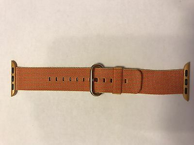 Genuine Apple Watch Woven Nylon Band 38mm Strap Gold/ Red