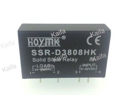 PCB Dedicated with Pins SSR-D3808HK 8A DC-AC Solid State Relay SSR D3808HK