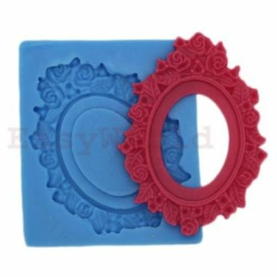 Pendant Setting Frame Silicone Mold for Polymer Clay Fit 40x30mm Cameo