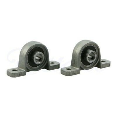 2Pcs Zinc Alloy Diameter 8mm Bore Ball Bearing Pillow Block Mounted Support KP08