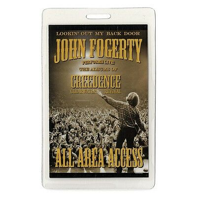 John Fogerty 2005 tour Laminated Backstage Pass Creedence Clearwater Revival AA