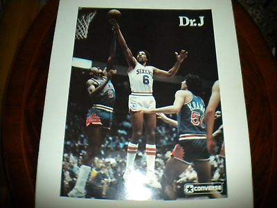 Original Dr. J Converse poster Basketball, Early Eighties, Julius Erving, Sixers