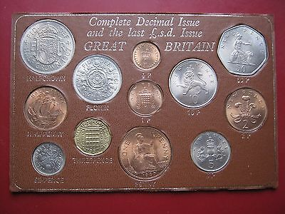 UK Last Sterling LSD & First Decimal coinage 12 coin set Half Penny to 50 Pence