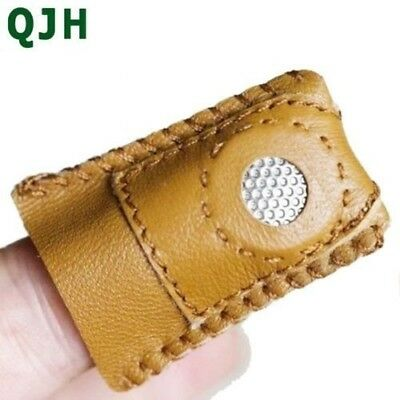 2pcs New Arrival Handmade Patchwork Faux  Leather Thimble Finger Sets With Metal