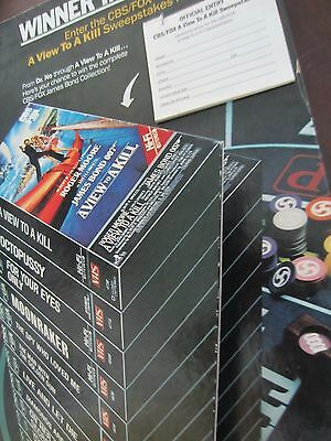 James Bond 1985 original video countertop display standee A VIEW TO A KILL nice!