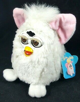 Baby Furby Babies Vintage 1999 Small Tiger Talking White Interactive