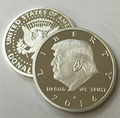 Donald Trump Republican US Eagle White House Collection Silver Colored Zinc Coin