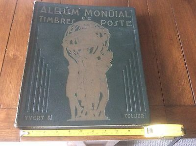 Old Stamp Album (French) Approx 150 Stamps