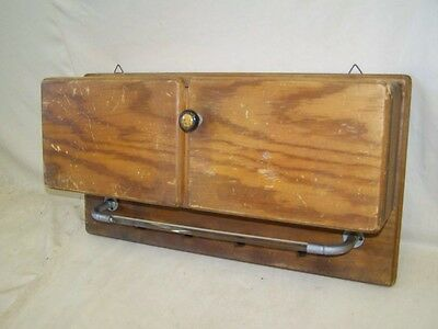 Nice old Kitchen shelf, Shelf Cabinet kitchen, Wood Towel holder,