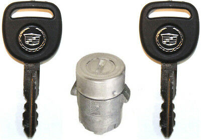 NEW GM OEM Single Door Key Lock Cylinder W/2 CADILLAC LOGO KEYS TO MATCH 706592