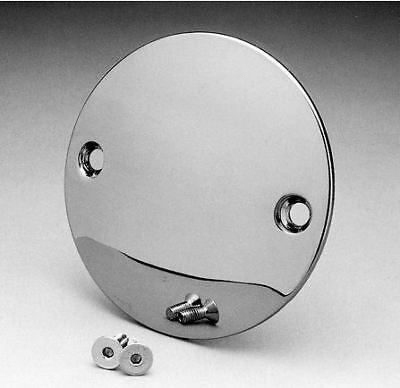 Chrome Domed 2 Hole Point Cover  Harley Big Twin Sportster 70-03 Free Ship