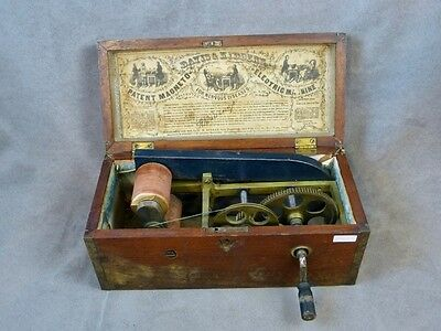 Antique Davis & Kidder's 1854 Magneto Electric Quackery Medicine Shock Machine