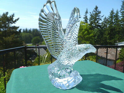 Waterford Crystal Fred Curtis EAGLE Figurine with Stickers - Free USA Shipping