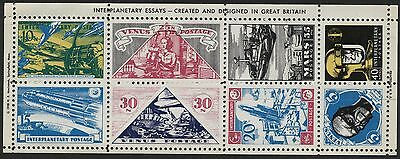 GB/USA 1958 Interplanetary Postage with hairlines (Dan Dare Comic Promotion)