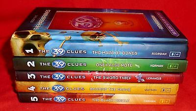 Lot of 5 THE 39 CLUES hardcover books # 1, 2, 3, 4, 5  excellent condition